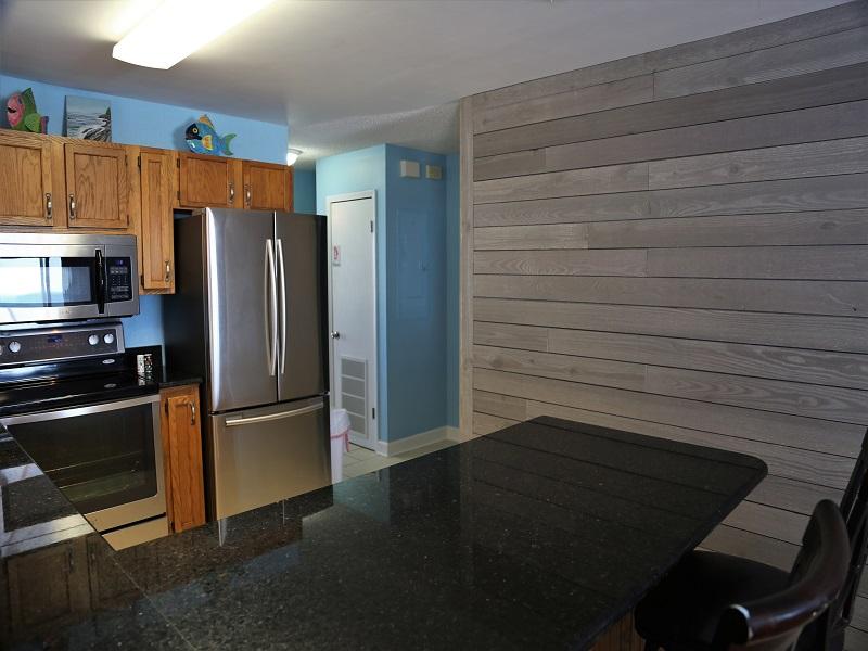 Upgraded granite counter