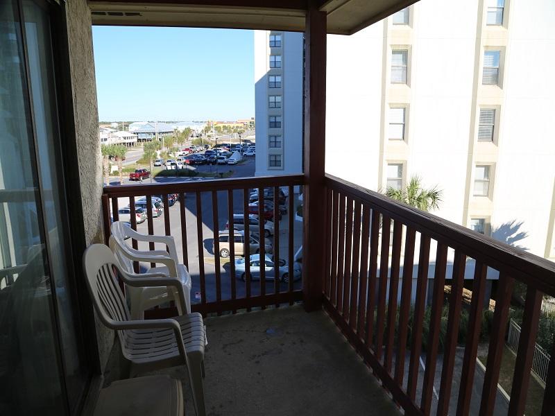 Private balcony area