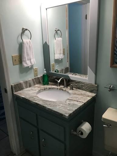 Second bathroom - New granite counter