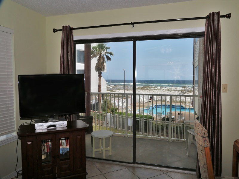 Tropical view from inside your condo!