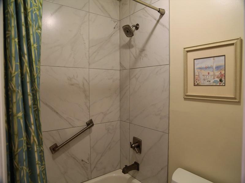 Master bathroom remodeled shower/tub!