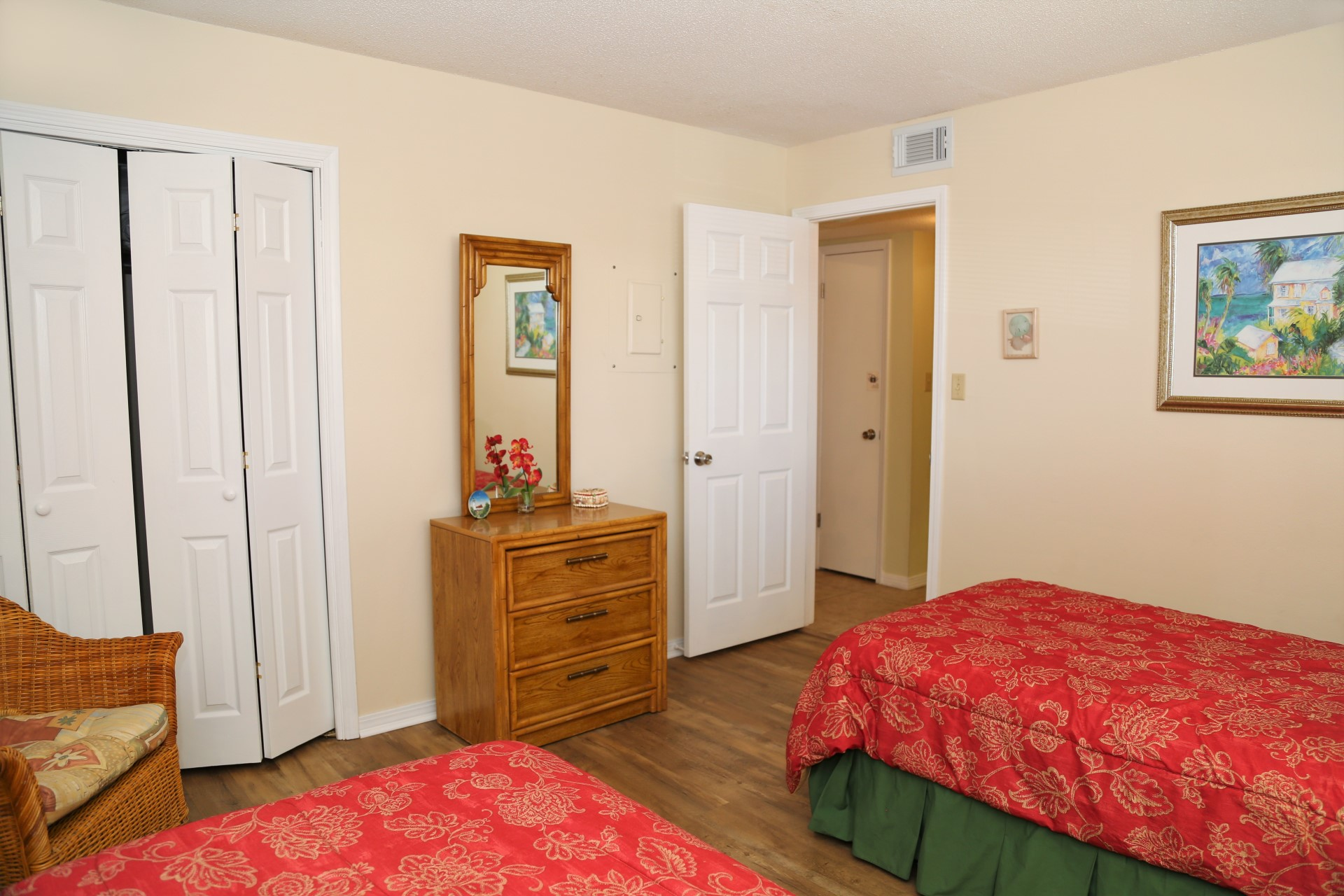 Enjoy new flooring in both bedrooms.