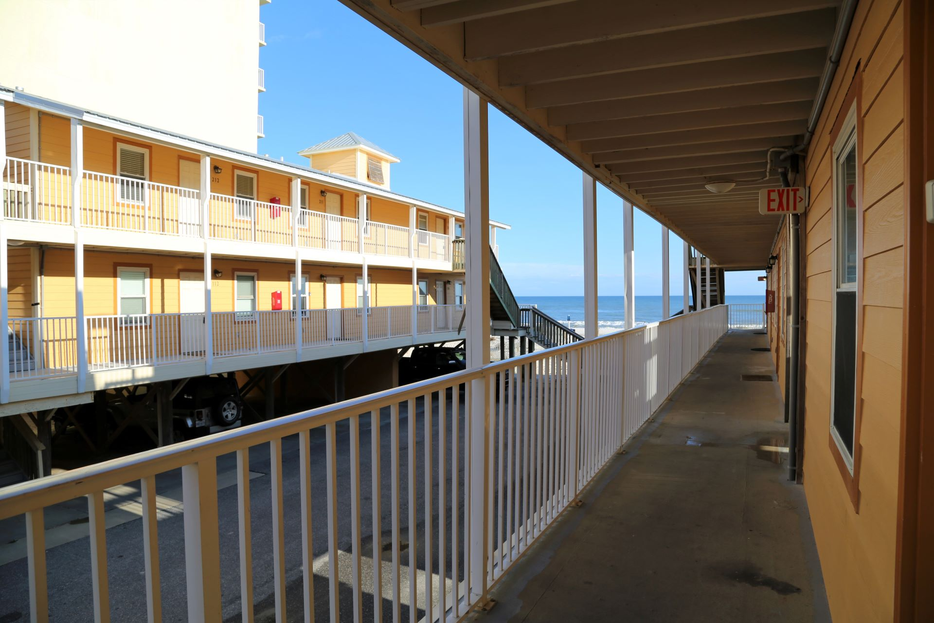 Breezeway leads right to the beach, just steps from your doo
