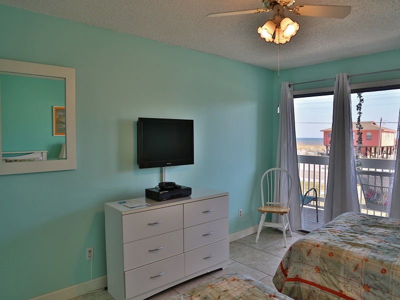 Sea Oats H102 - Second bedroom TV and access to balcony