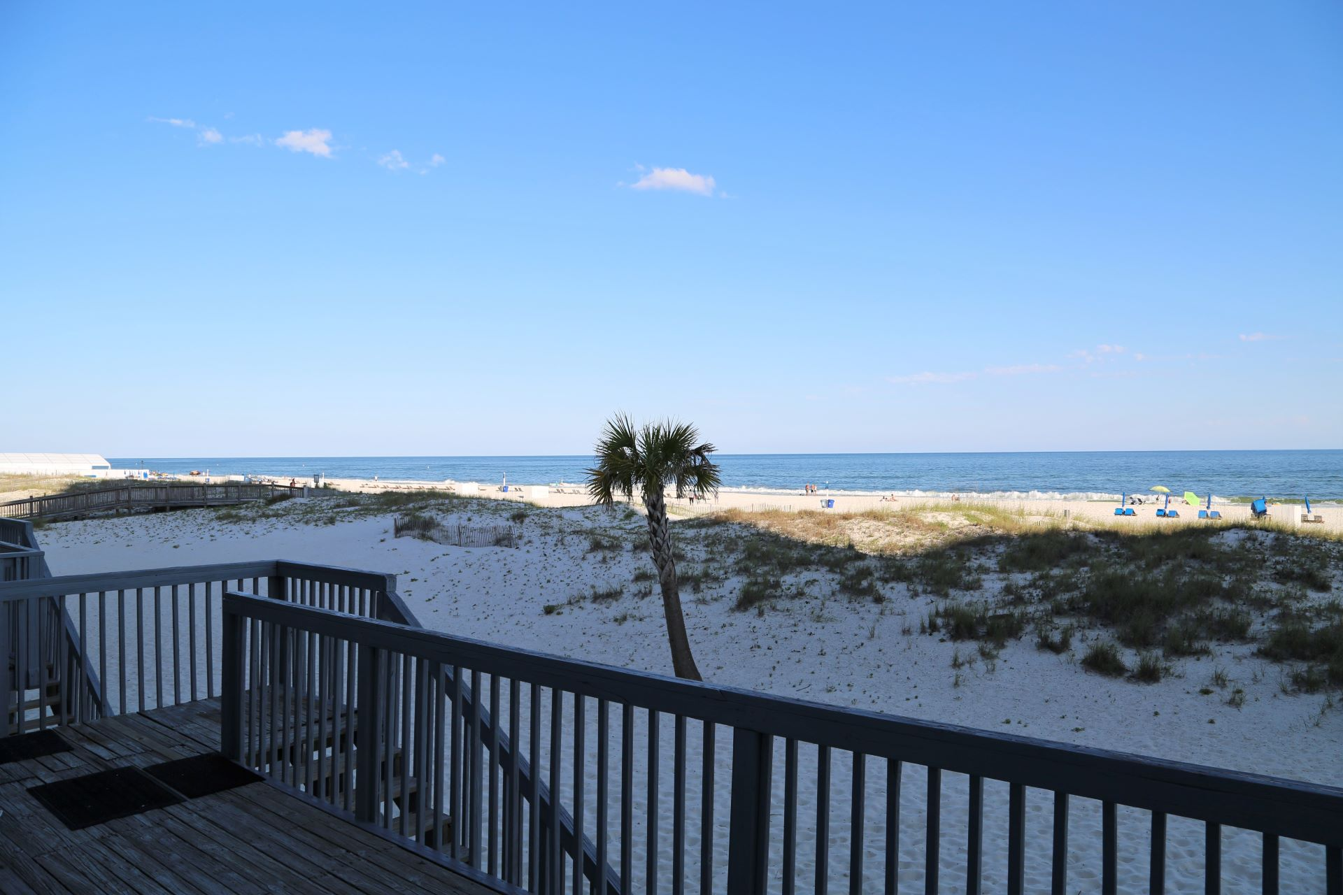 Easy beach access!  Walk from the balcony to the beach!