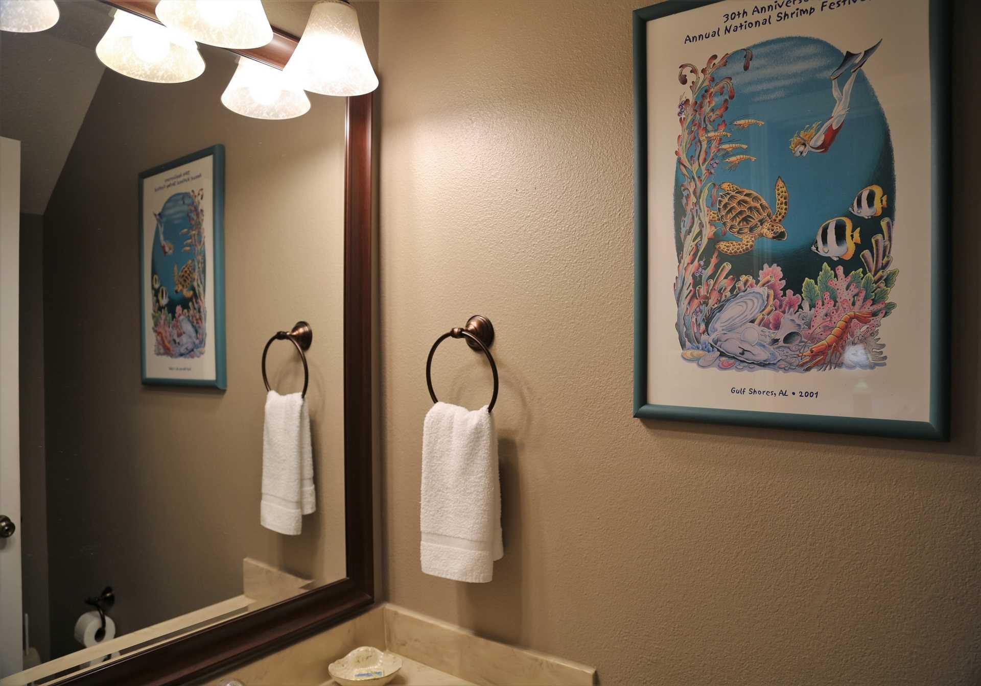 Ocean Reef 802 - main floor half bathroom