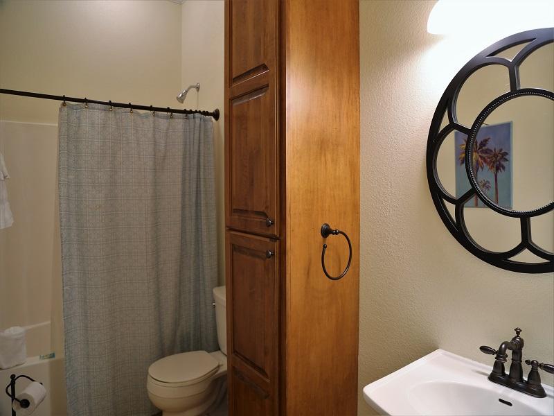 Upstairs hall bathroom - shower/tub combo
