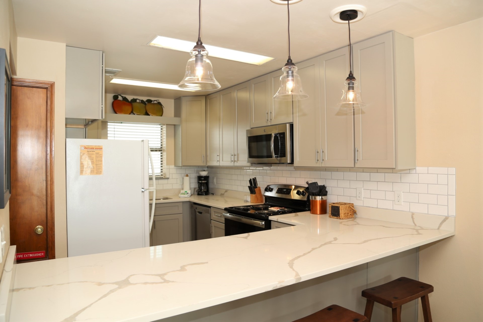 The upgraded counters provide ample space for prepping meals