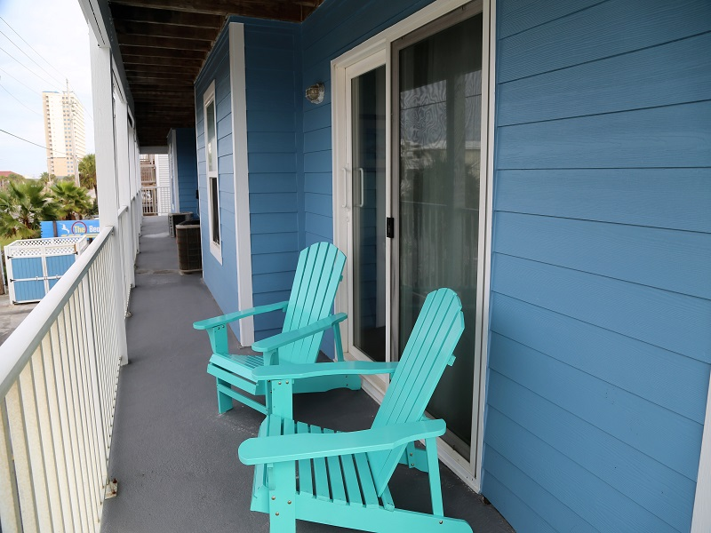 Sunchase 111 - Another view of common breezeway by unit 111