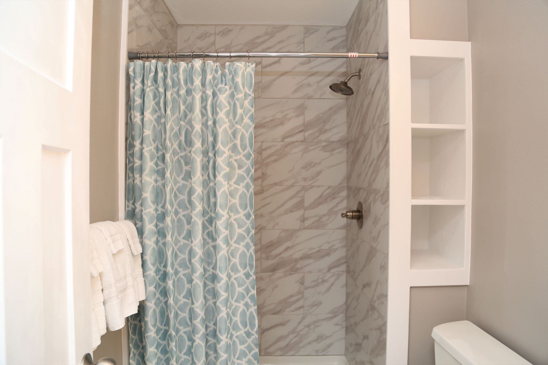 Remodeled second bathroom - tiled shower, new fixtures, fres