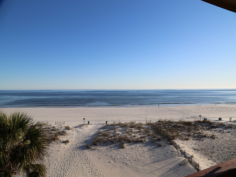 Spectacular gulf front balcony view