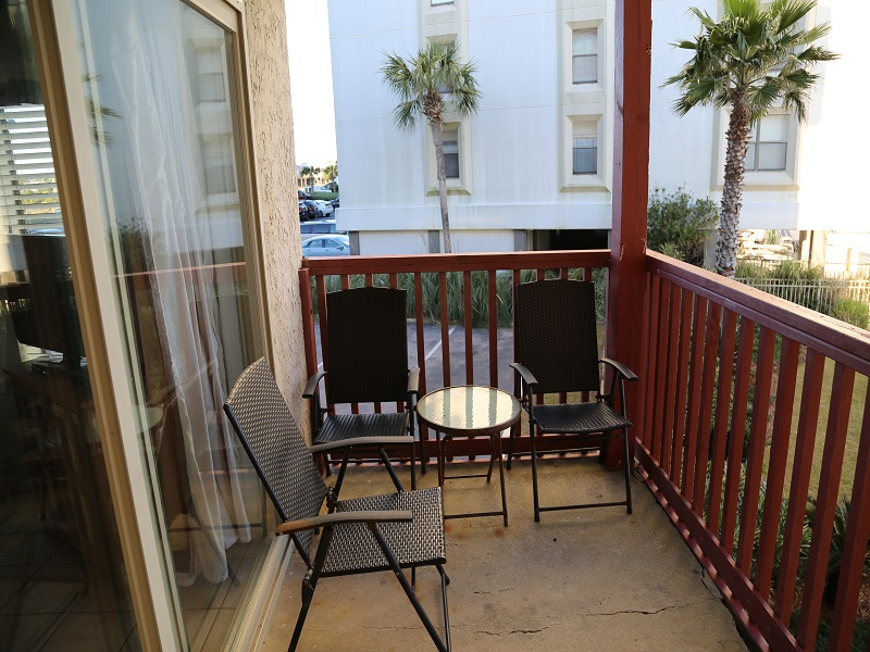 Private balcony with chairs