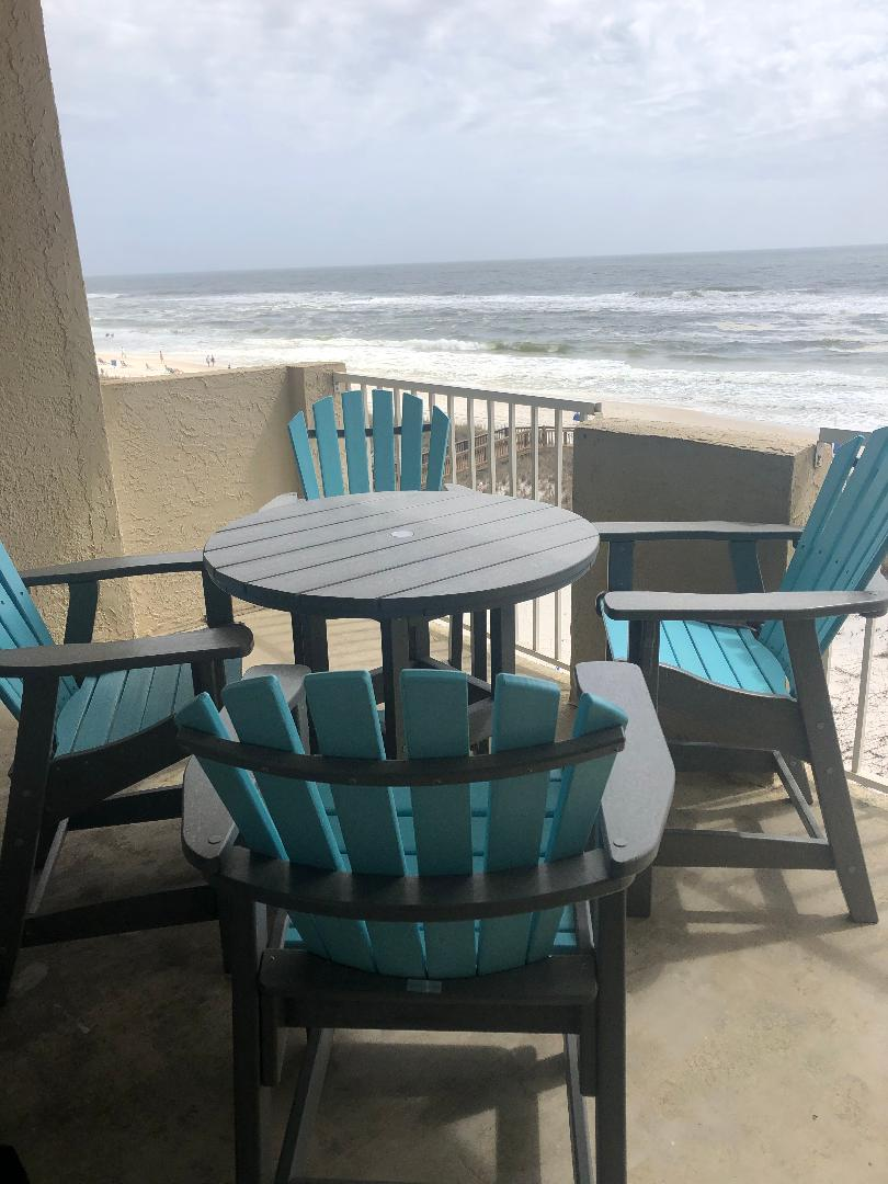 Tropical Winds 304 - Private balcony with bar height table a
