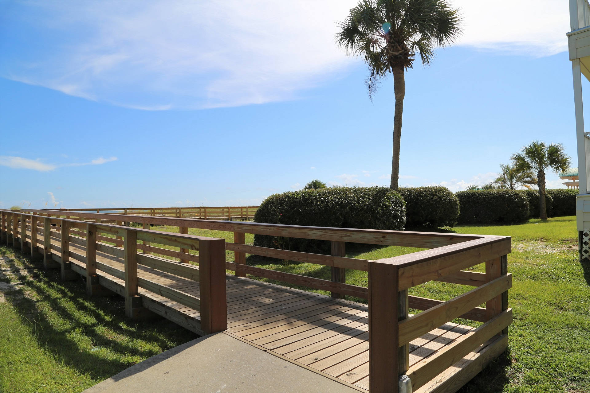 Newly renovated boardwalk that leads you to the beach!