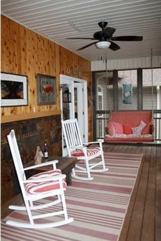 Screened porch; 3 porches available!!