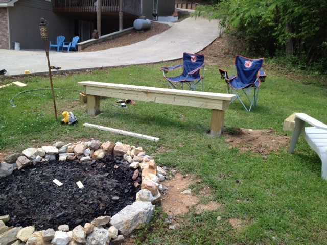 Fire pit w/bench seating