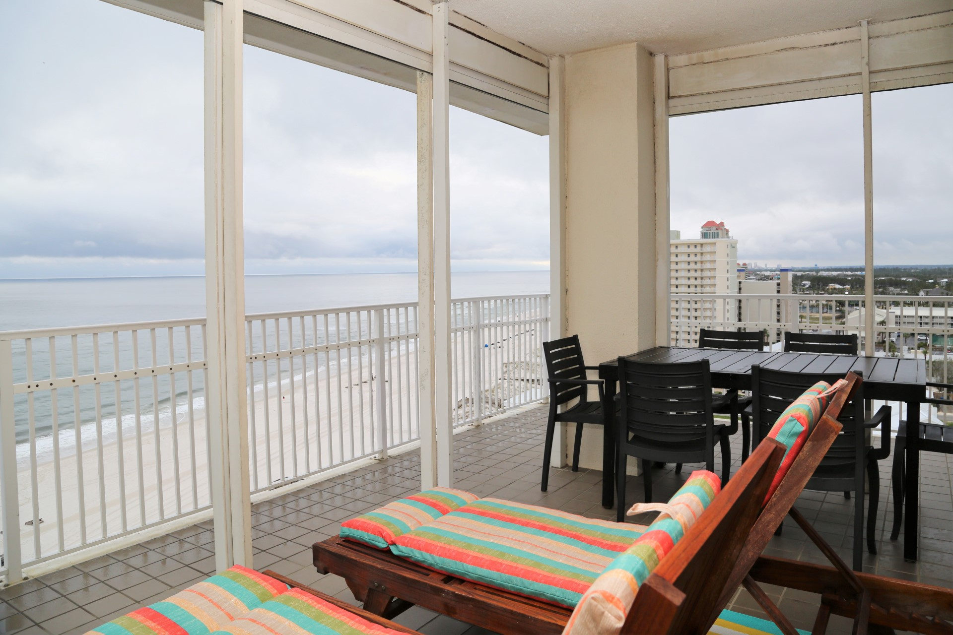 Lounge on your private balcony with a good book and views of
