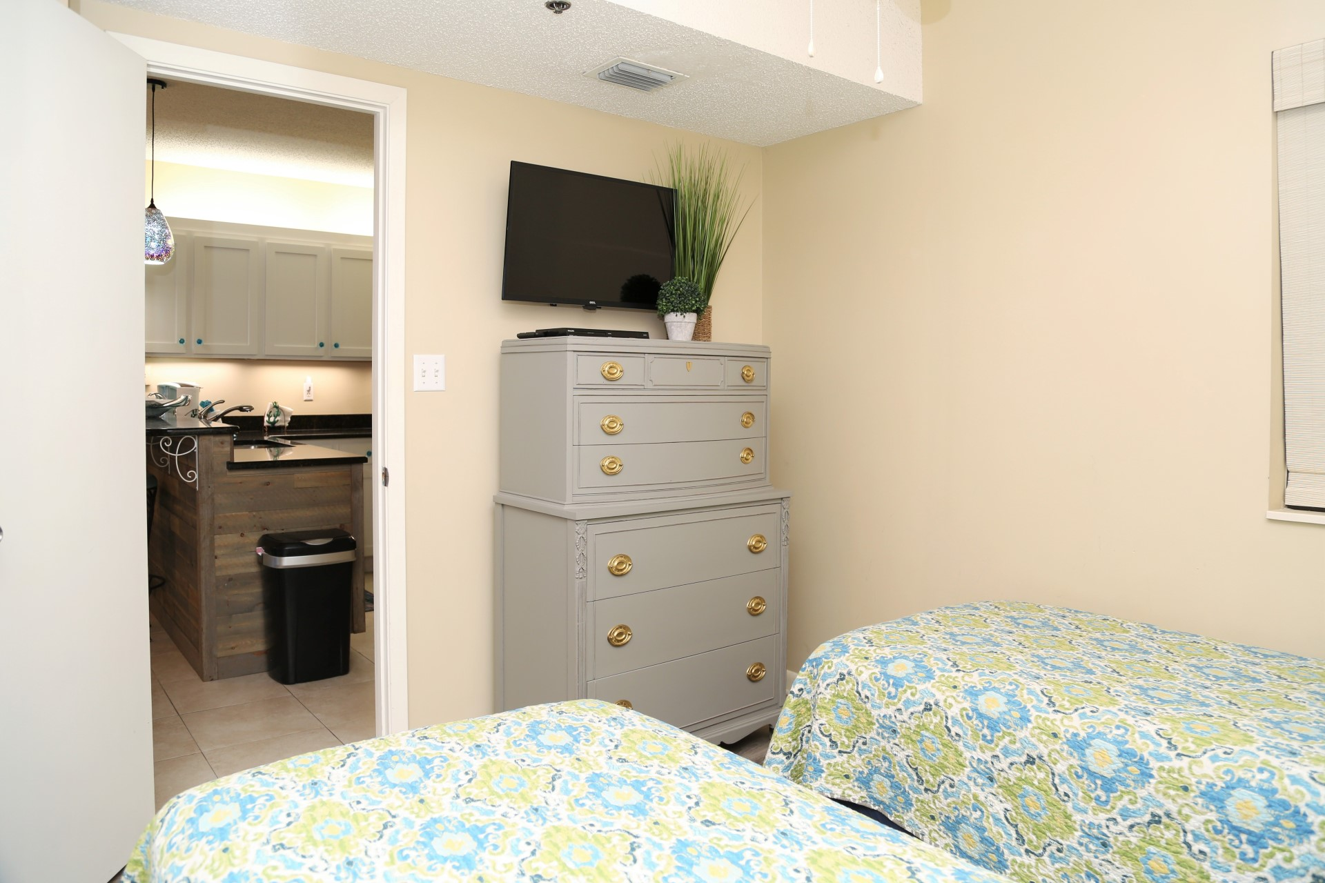 The second bedroom includes TV and DVD player.  You