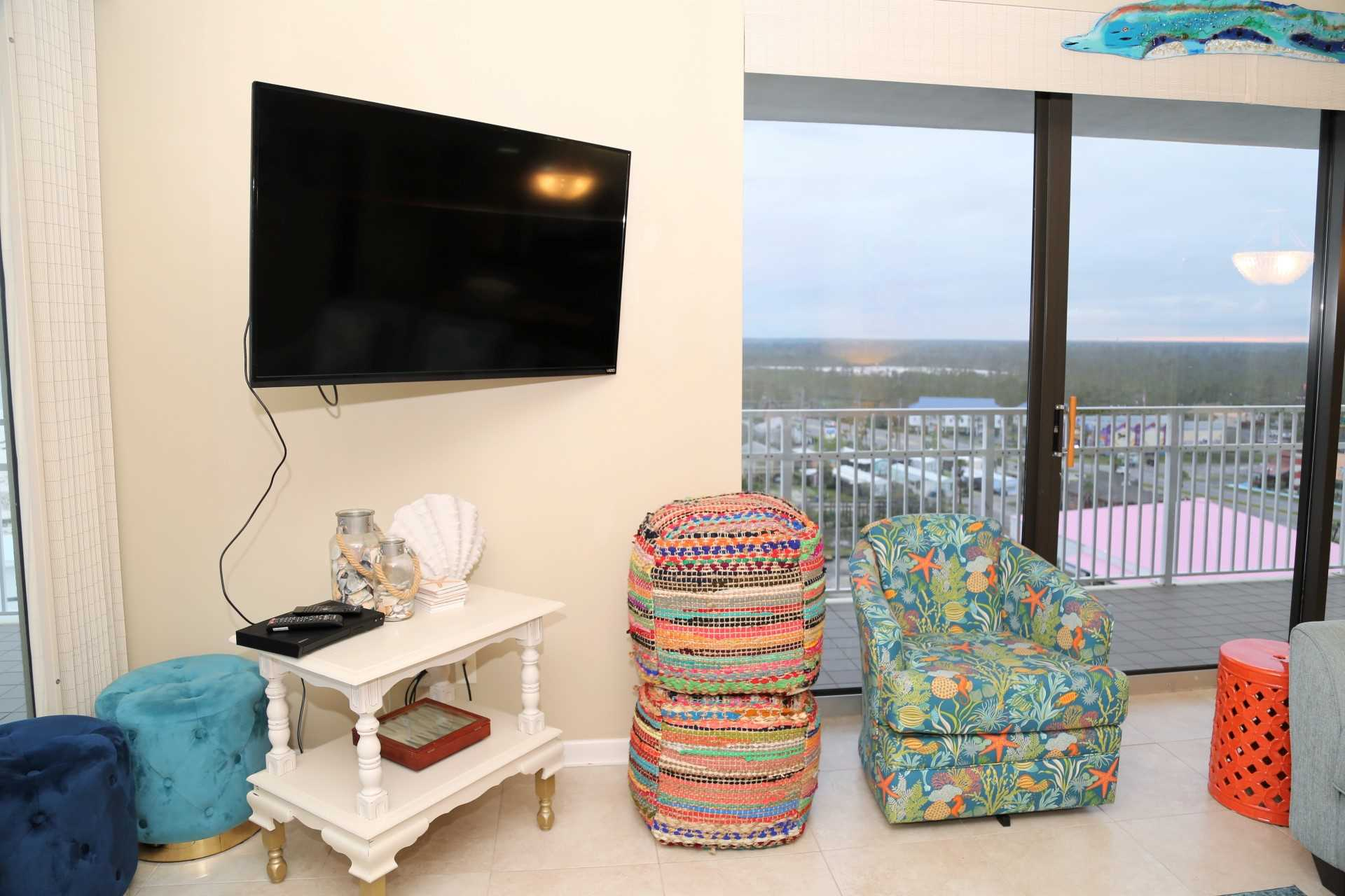 Panoramic views from living room!
