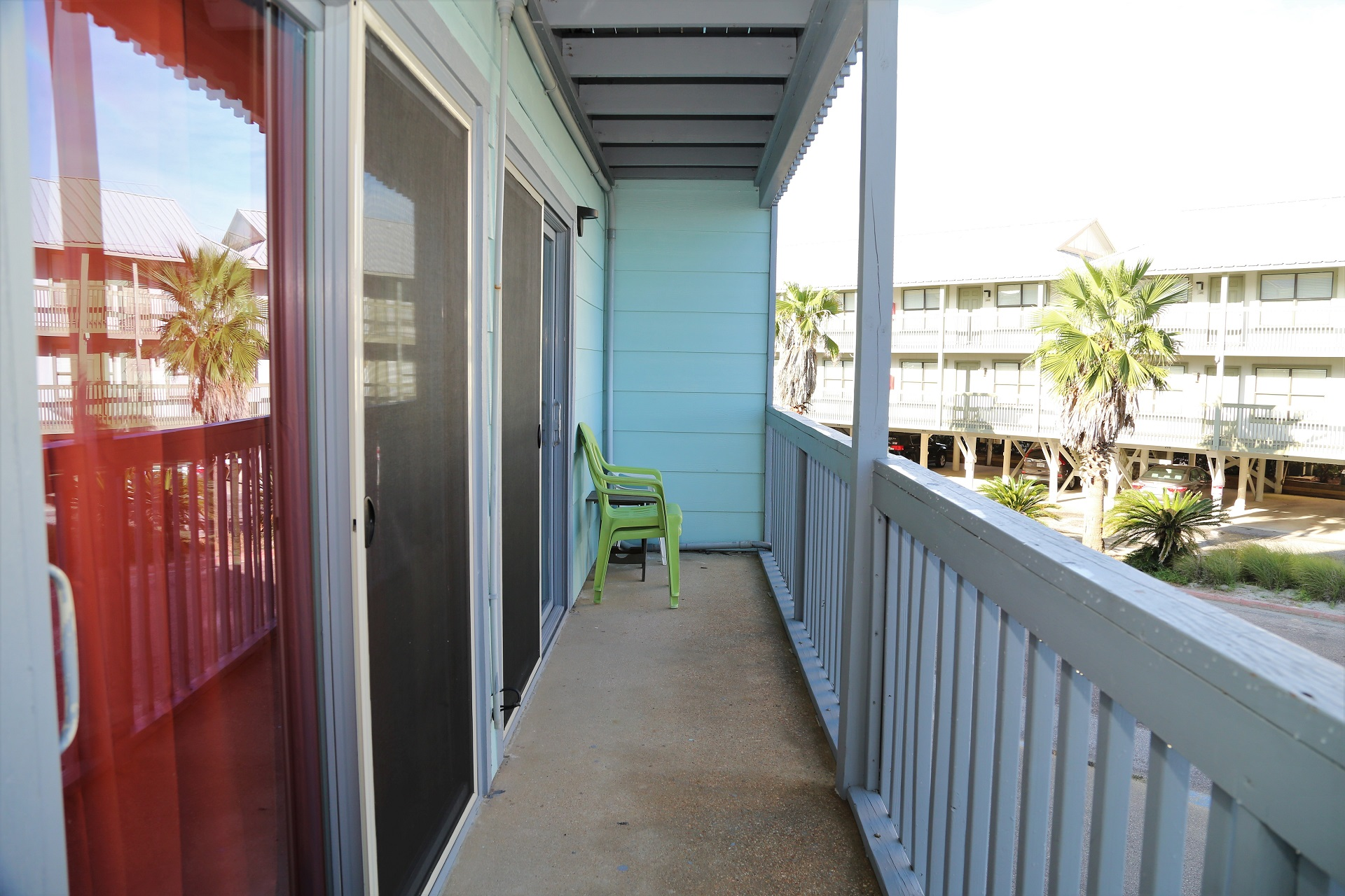 Large, private balcony is the perfect spot to kickback and r