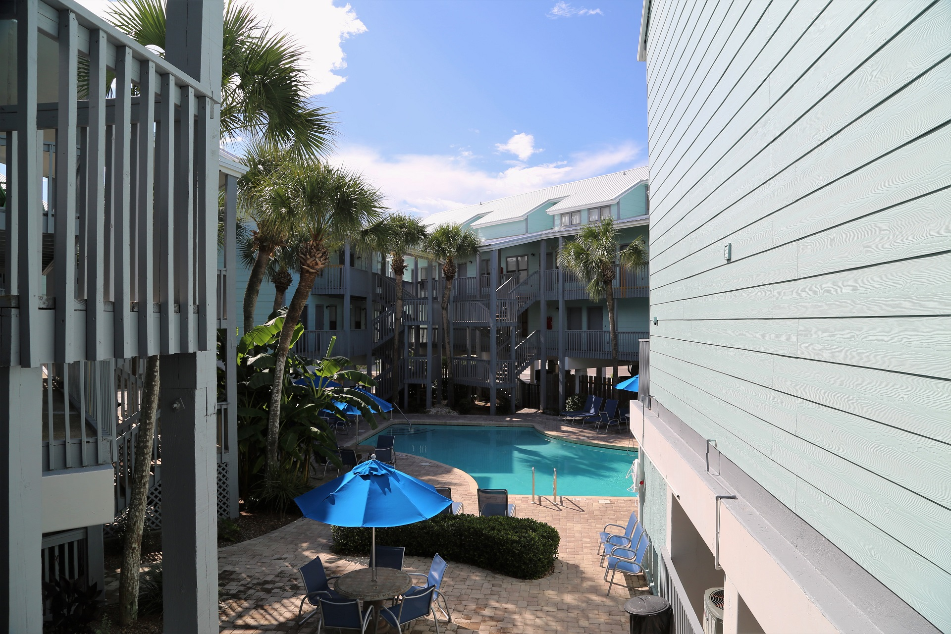 Your view from the entrance-side breezeway.