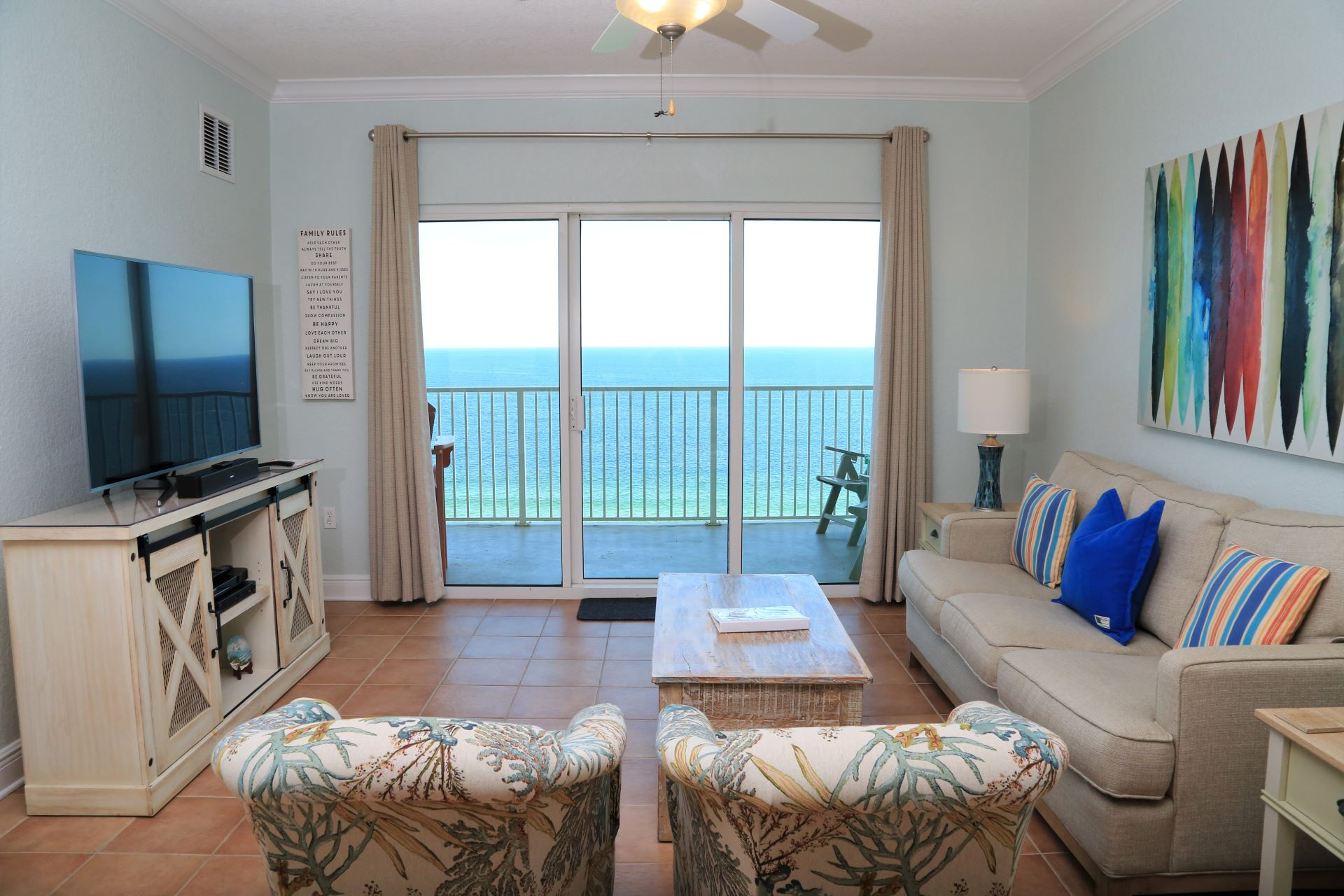 Crystal Shores West 905 - Open living area