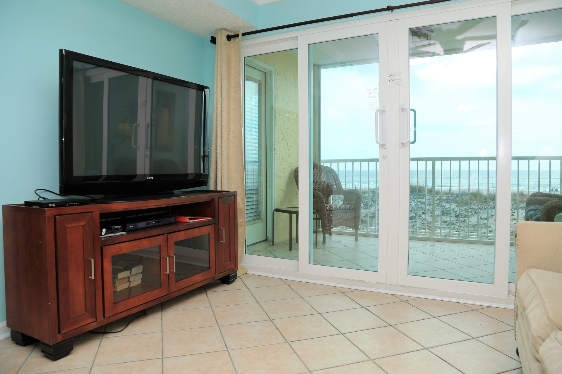 Castaways 1B - Living Room - TV