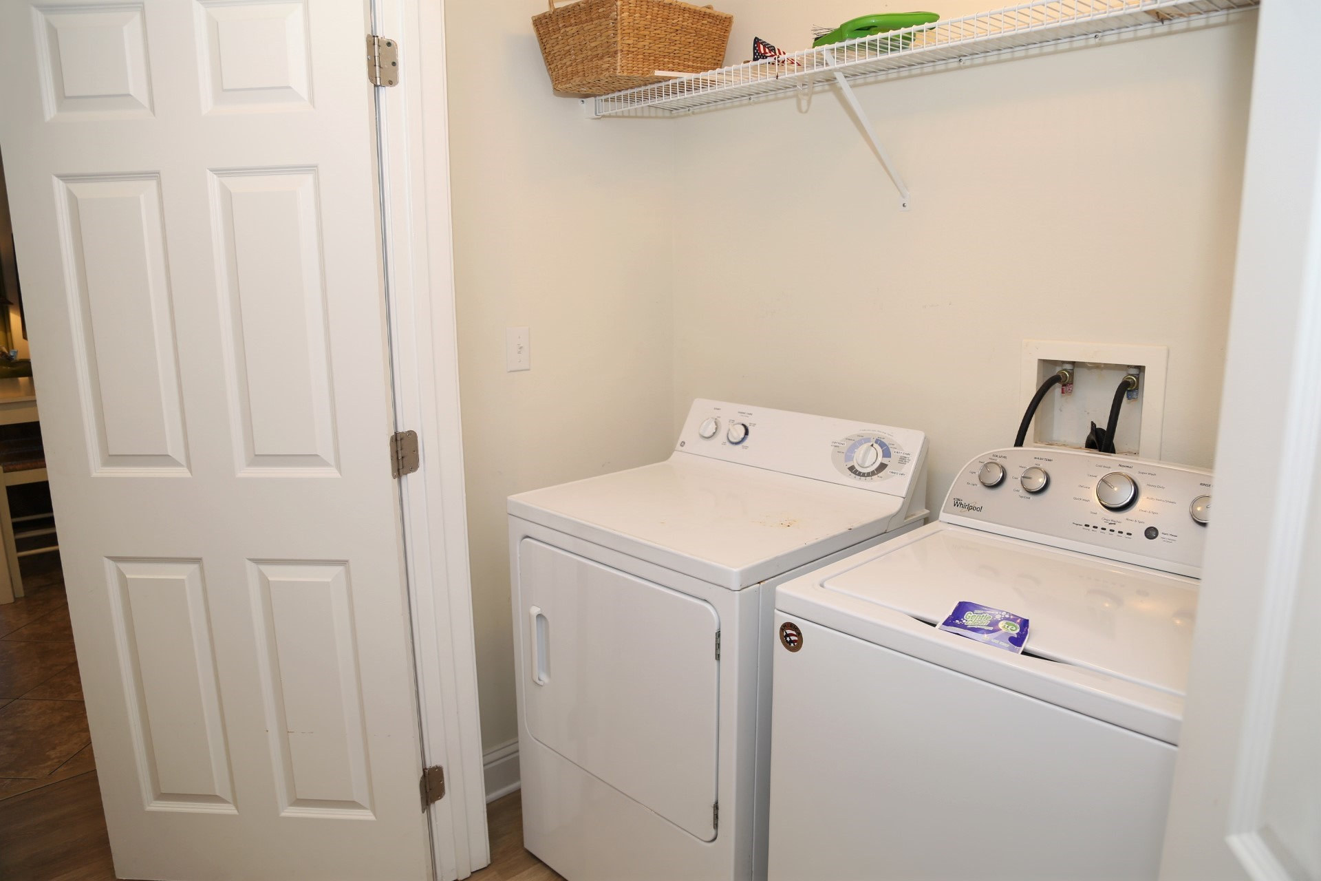 Enjoy the convenience of a full-sized washer & dryer.