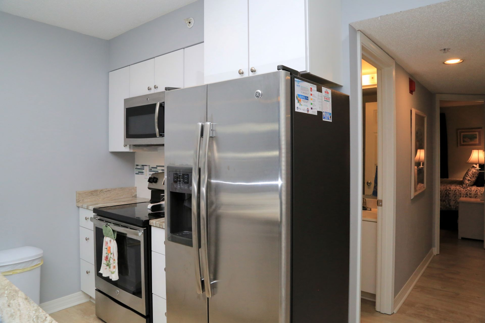 The well-appointed kitchen includes quality appliances and s