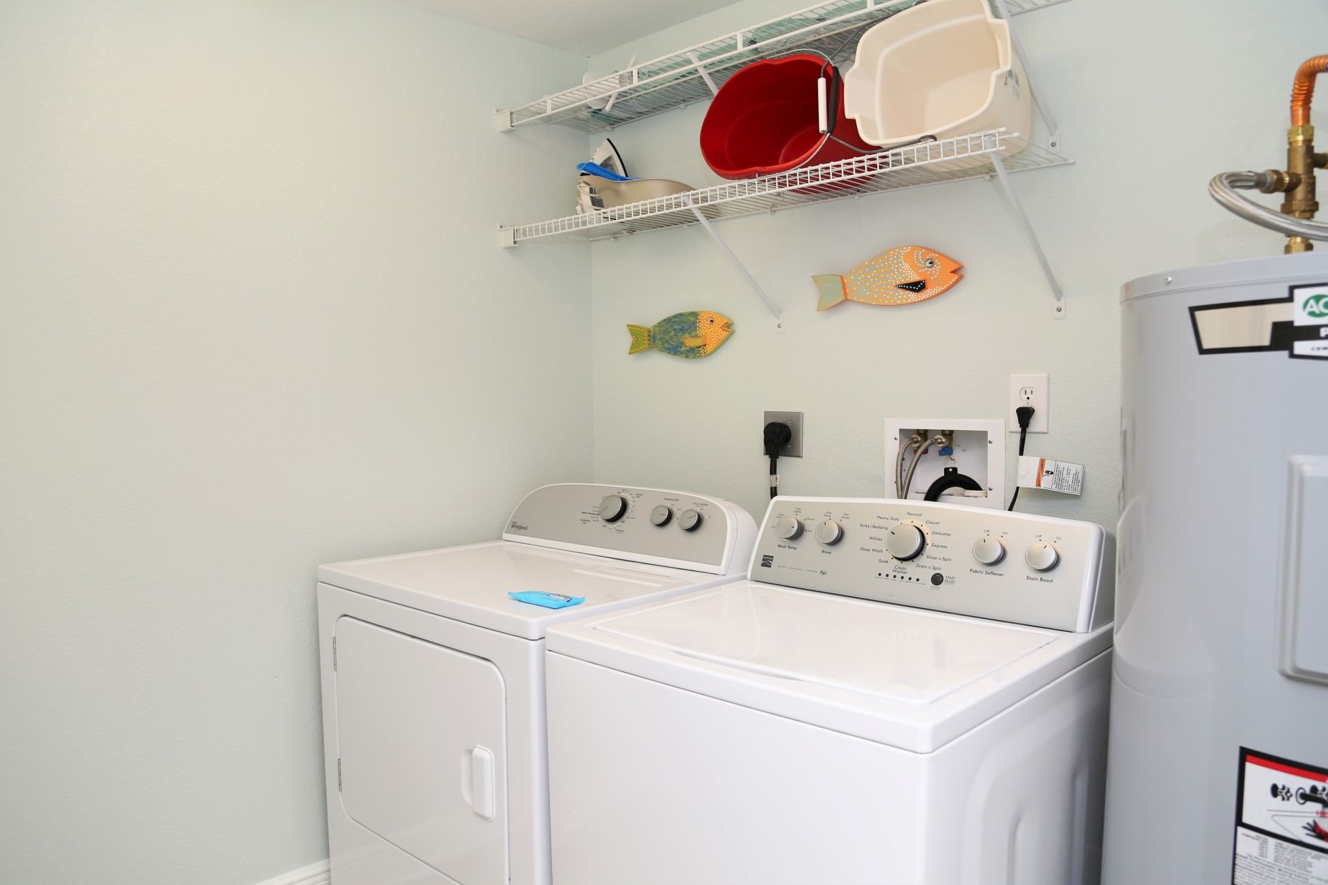 Enjoy the convenience of a full-size washer & dryer in-u