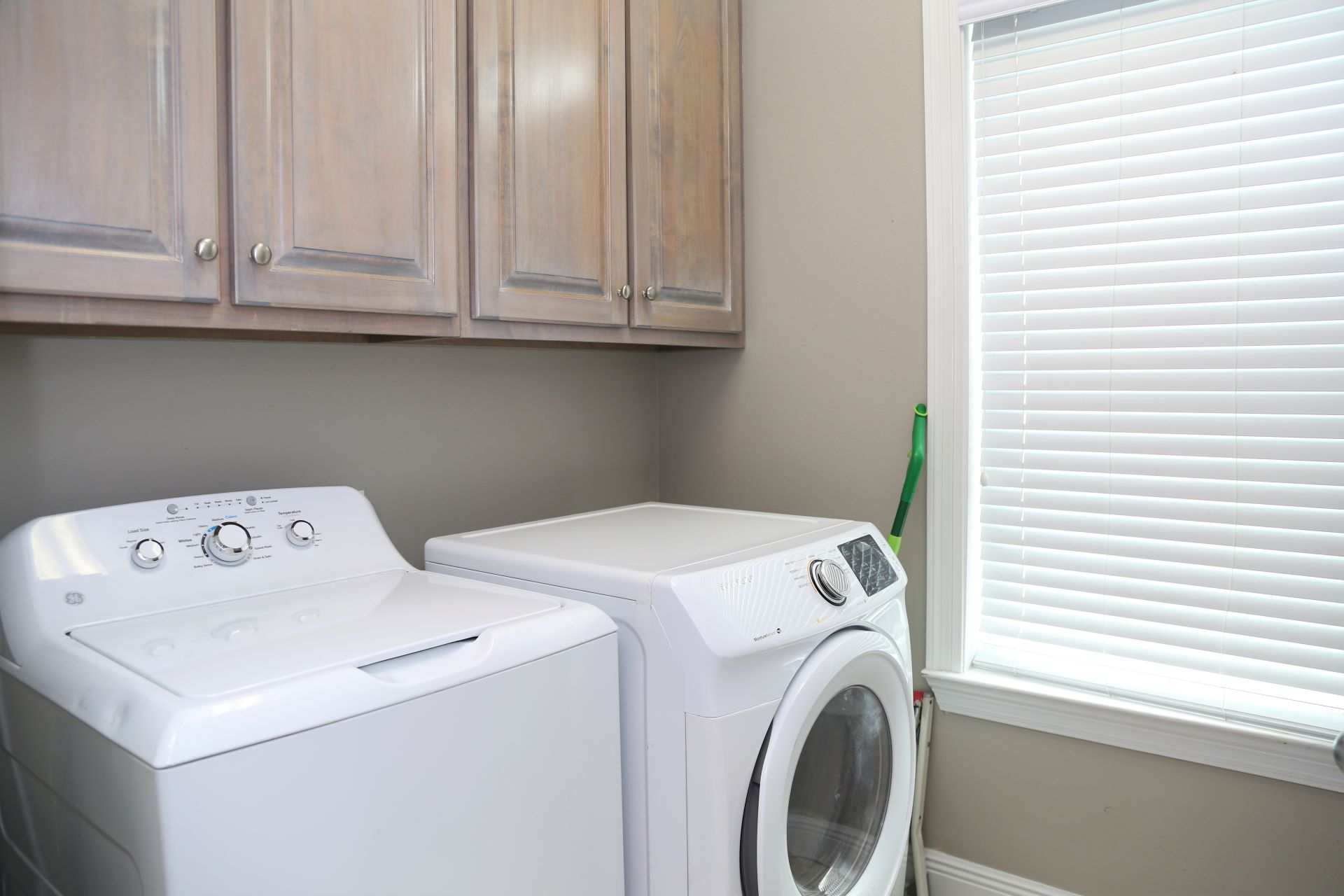 Enjoy the convenience of a full-size washer & dryer.