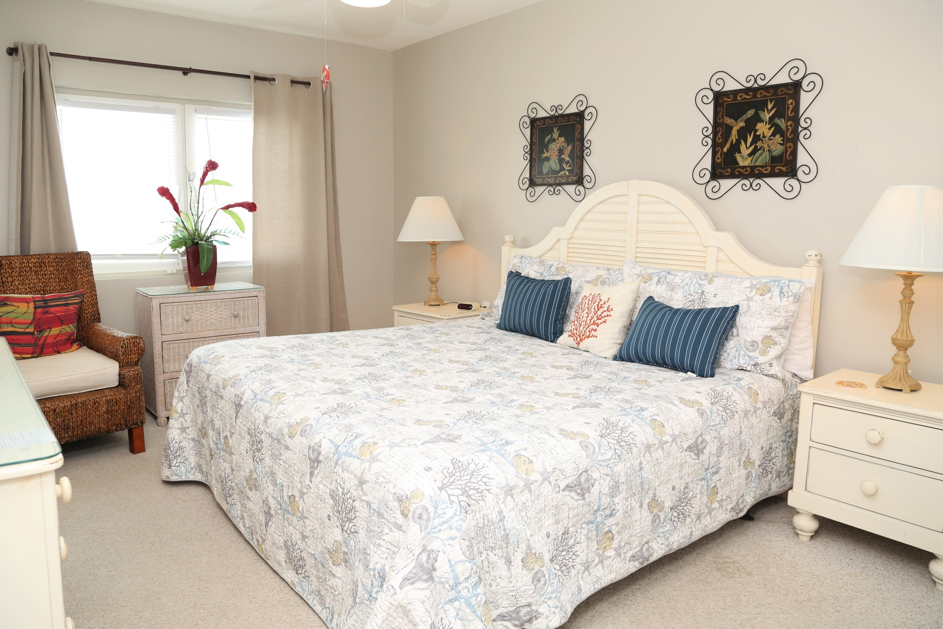 The main bedroom includes a king-size bed.