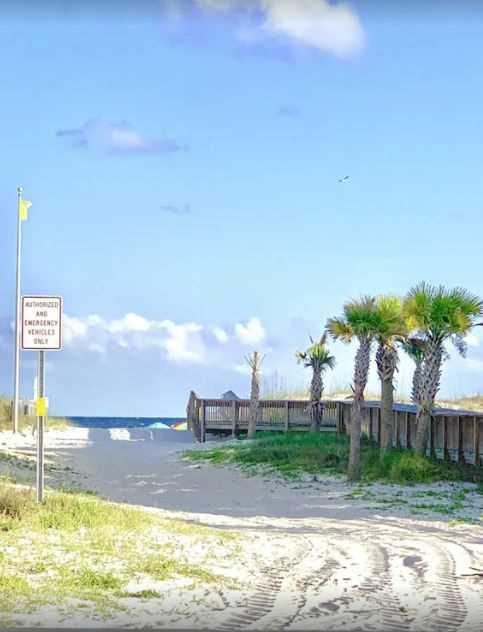 Public beach access a short distance away.
