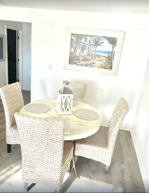 Open dining and living area