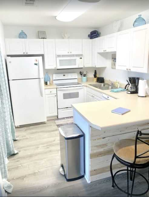 You'll enjoy the fully equipped kitchen for creating ho