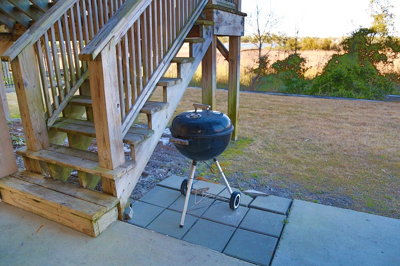 Each duplex has a private grill