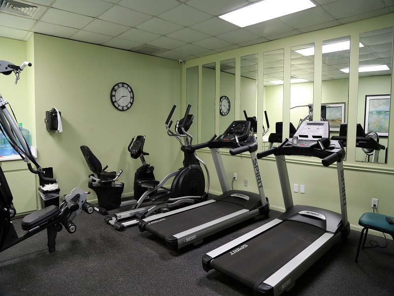 Fitness Room located inside dome