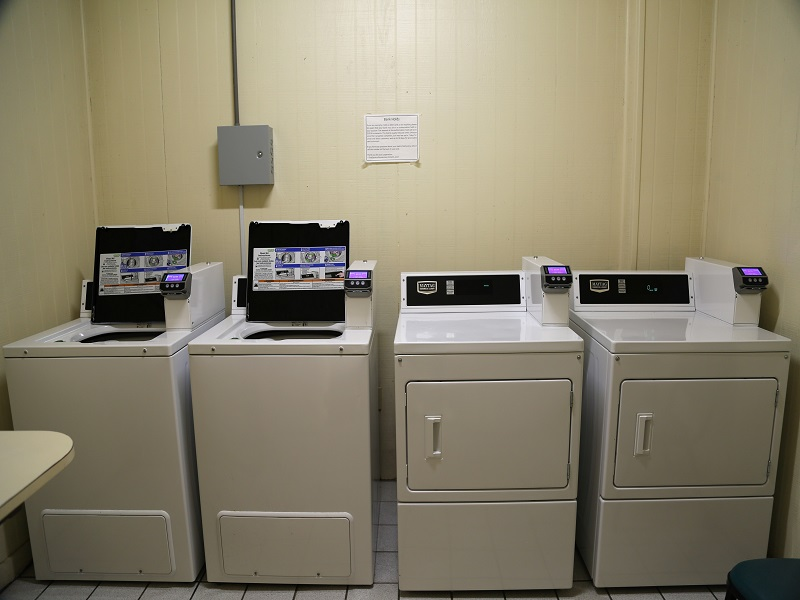Card-operated washer and dryer facilities
