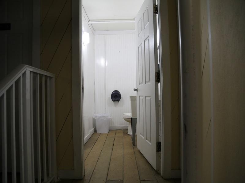 Poolside restroom