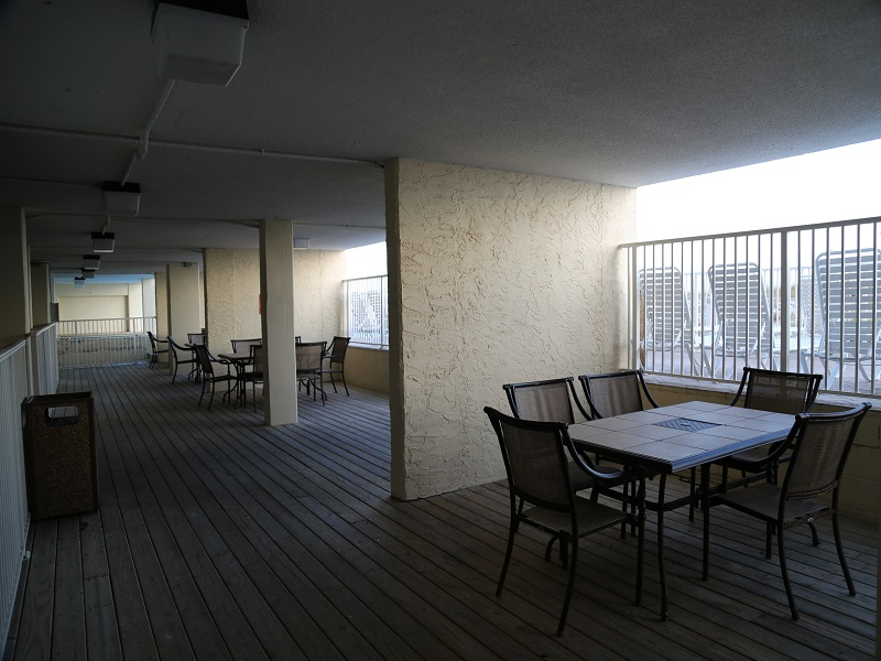 Patio area near pool deck