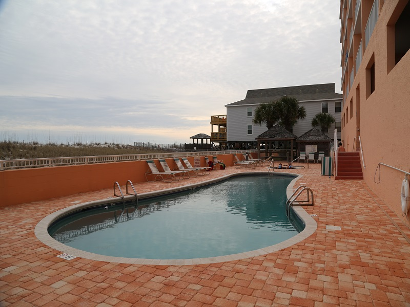Gulf front pool with new pool deck!