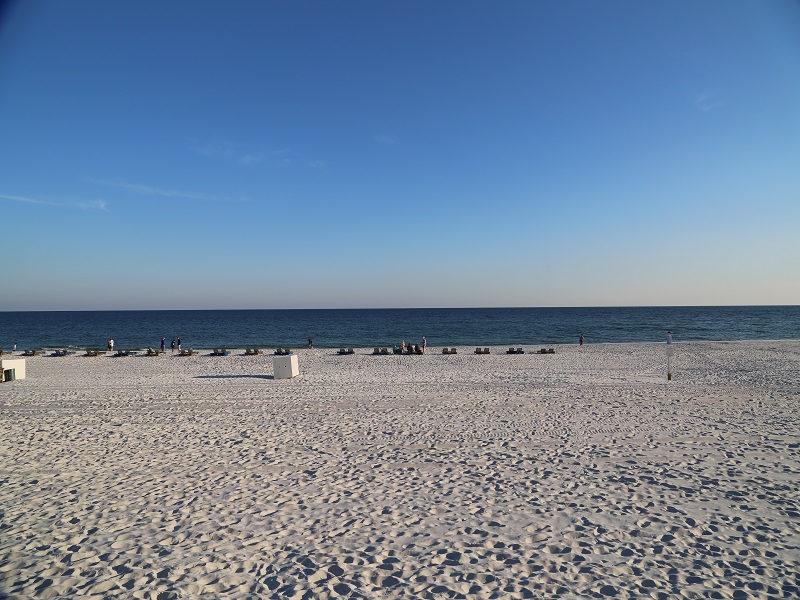 The beach is just a short walk from unit 1110!
