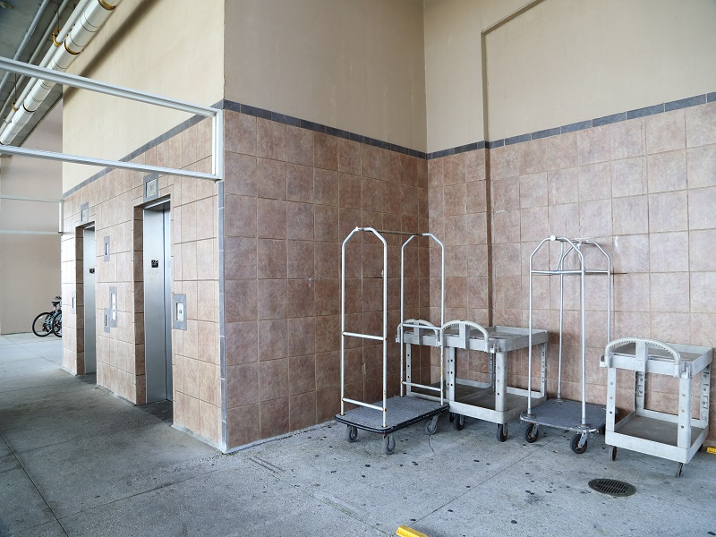 Elevators and luggage carts