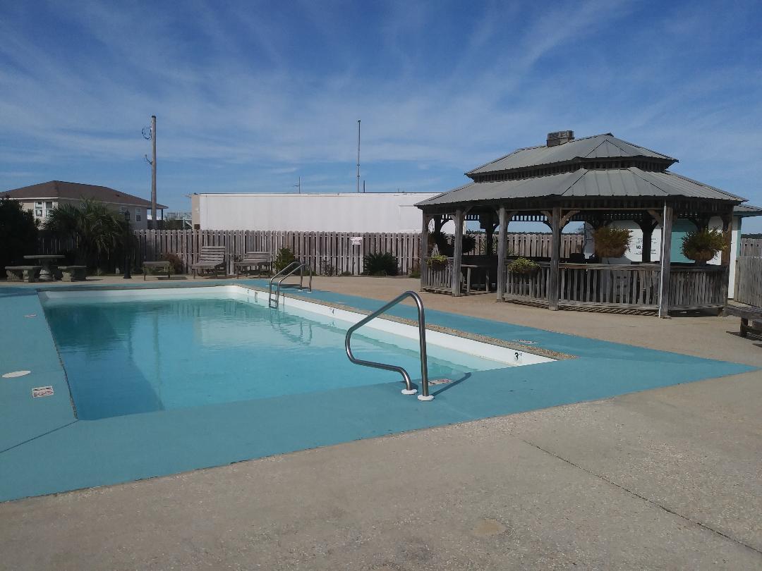 Outdoor communal pool.