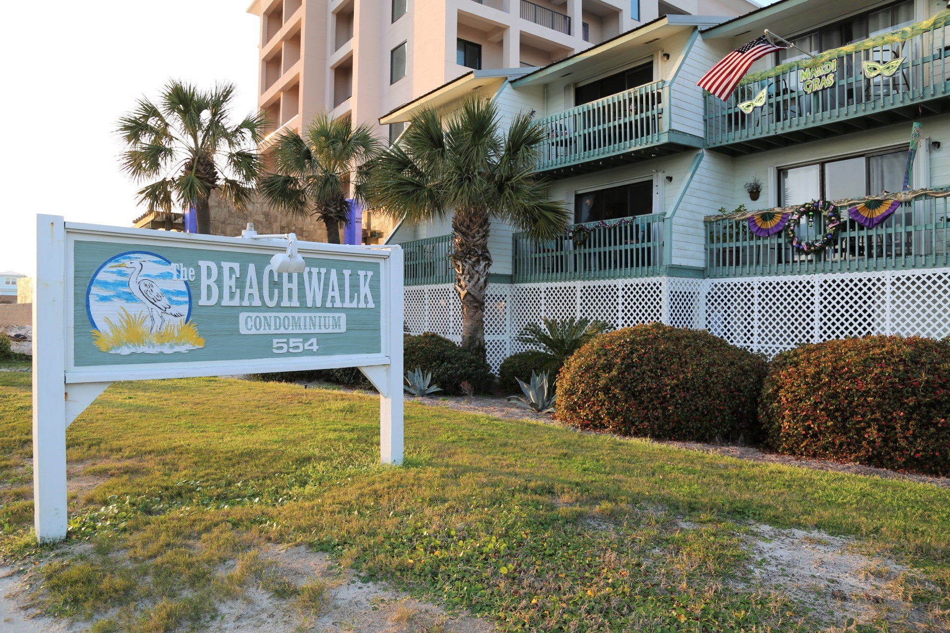 Beachwalk townhomes are in a prime location, approx 1 mile f