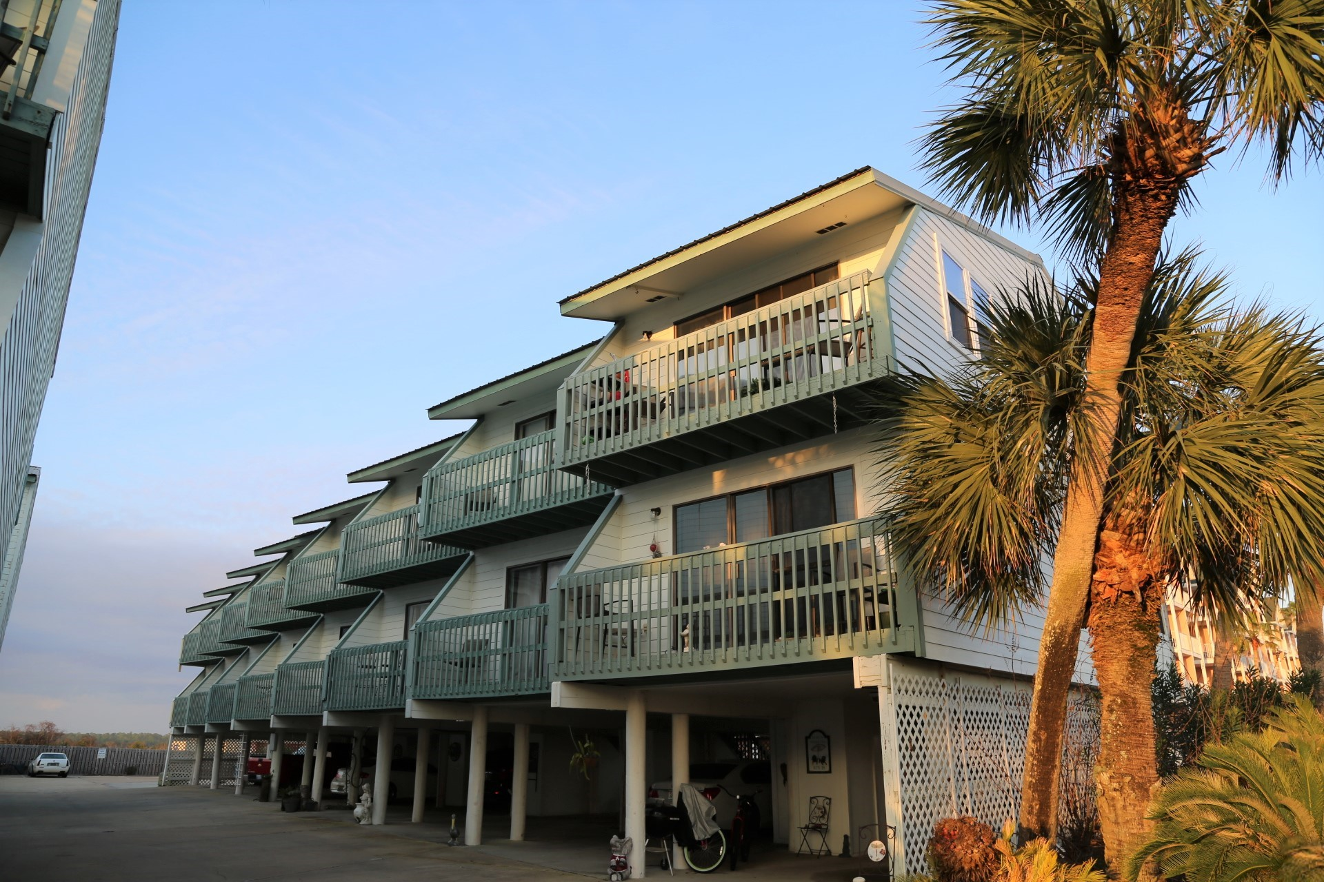Beachwalk units are low density, two-story townhomes