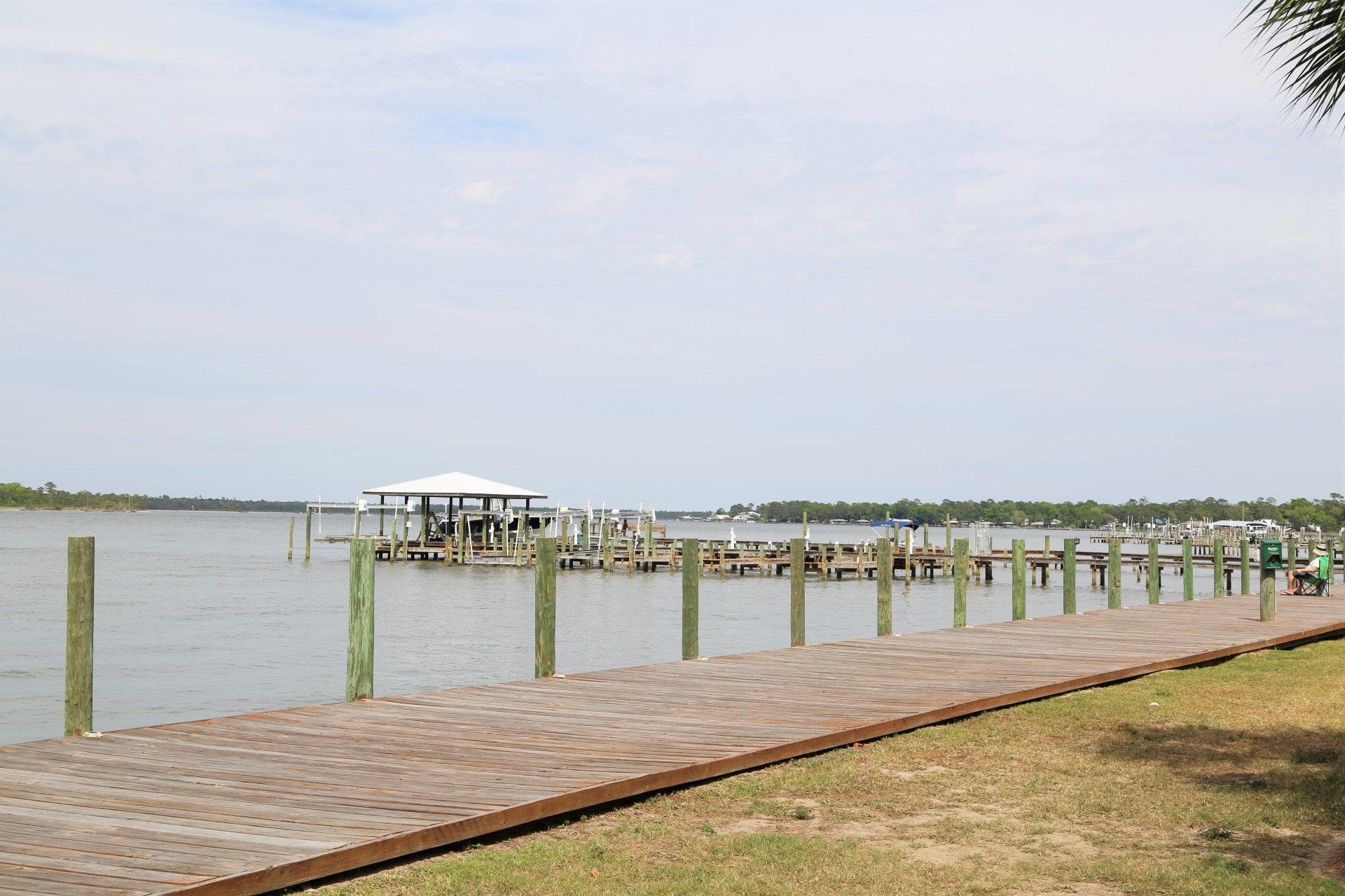 Boardwalk to the fishing pier/boat dock.